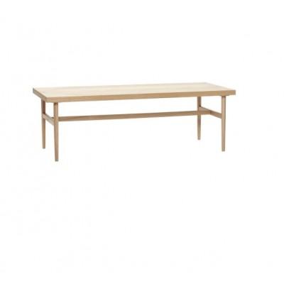 TABLE DE SALON EN CHENE NATUREL MOTIF CHEVRONS