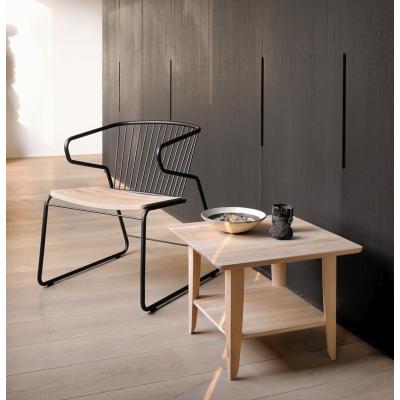 Oak Gabbia lounge chair