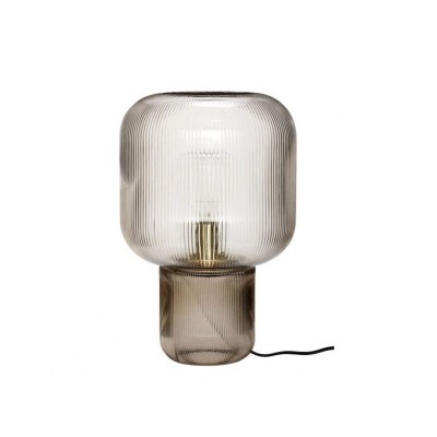 LAMPE DE TABLE VERRE FUME