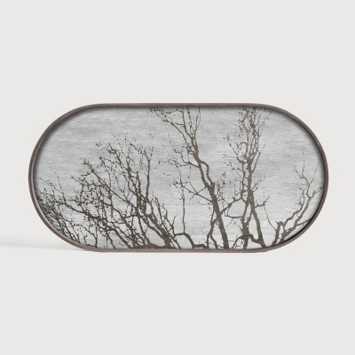 White Tree wooden tray - oblong - M