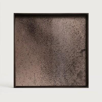 Bronze mirror tray - square - L