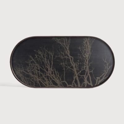 Black Tree wooden tray - oblong - M