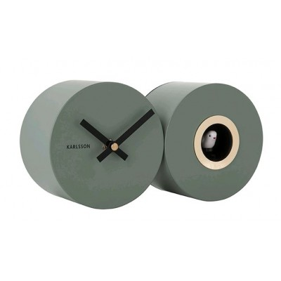 Horloge Duo Cuckoo vert jungle