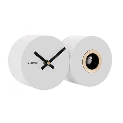 Horloge Duo Cuckoo blanc